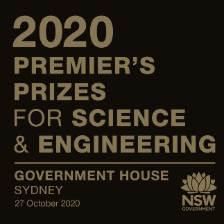Society Fellows awarded 2020 NSW Premier's Science and Engineering Prizes